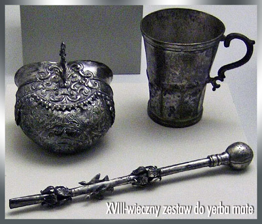 XVIII-wieczny zestaw do yerba mate