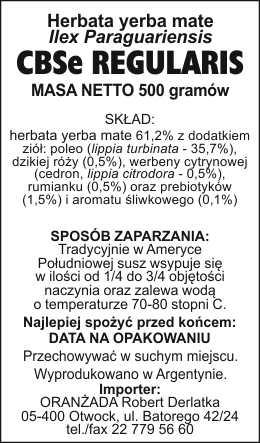 CBSe_Regularis_na_paczke