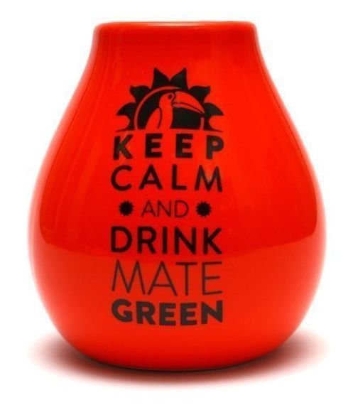Matero Ceramico LUKA ORANGE 350 ml z z logo MATE GREEN USZKODZONE