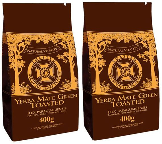 Yerba Mate GREEN BLACK prażona  ROASTED 2 x 400 g