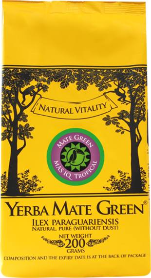 Yerba Mate Green MAS IQ Tropical